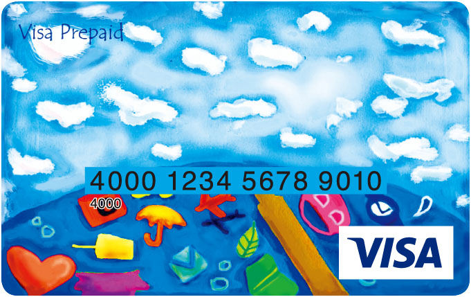 Visa プリペイドカードデザイン ...
