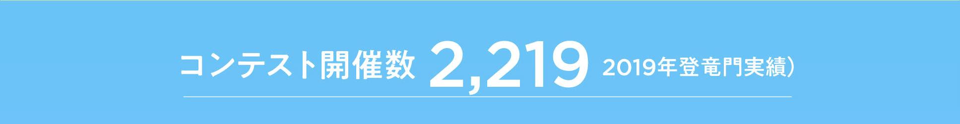 コンテスト開催数「2,219」2019年登竜門実績
