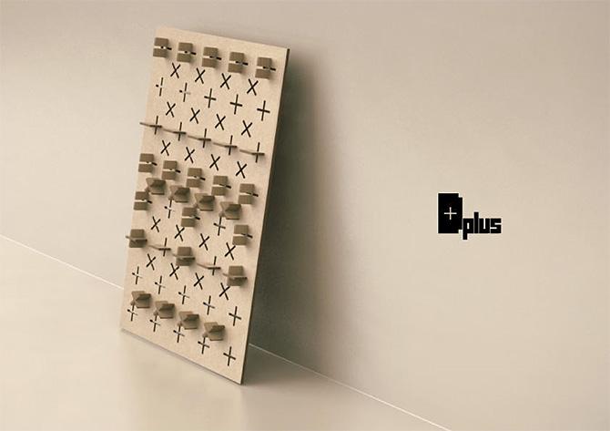 D plus 自分でカスタマイズできる ダンボール製の靴の収納棚
