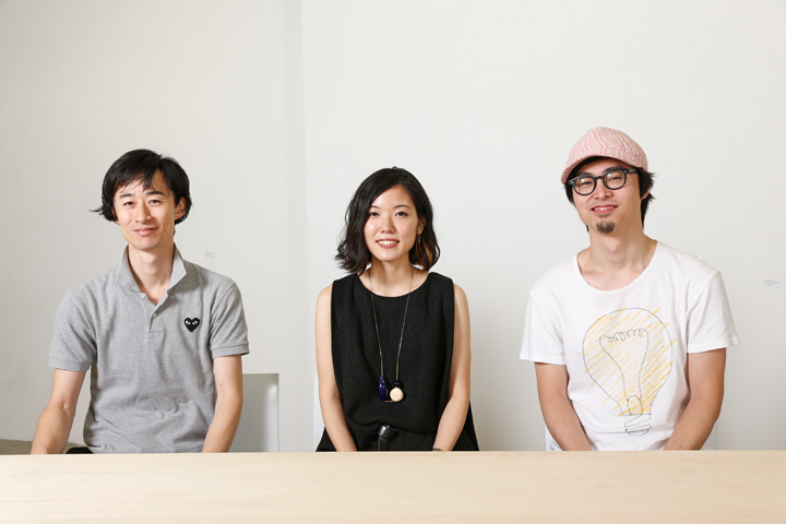 左:飯沼さん、中央:柿崎さん、右:奥田さん