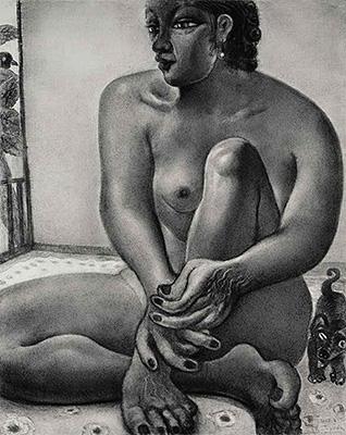 室内の裸婦