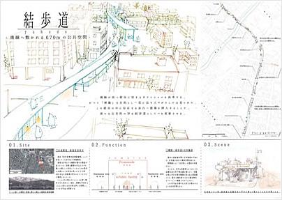 結歩道 yuhodo ─ 廃線へ敷かれる670mの公共建築 ─