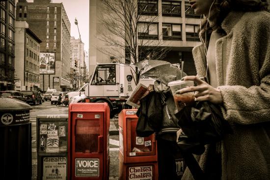 NYの街角で
