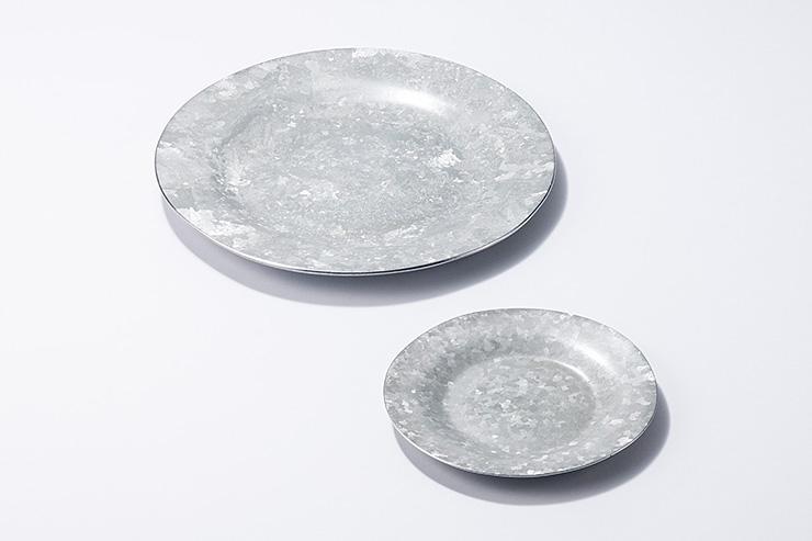 アルミ結晶模様皿