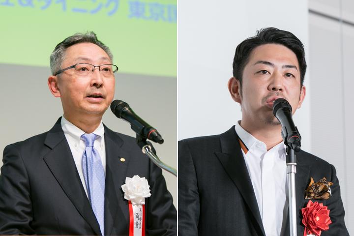 左:実行委員長・角倉護さん(塩ビ工業・環境協会 会長)右:審査員・鈴木啓太さん(PRODUCT DESIGN CENTER)