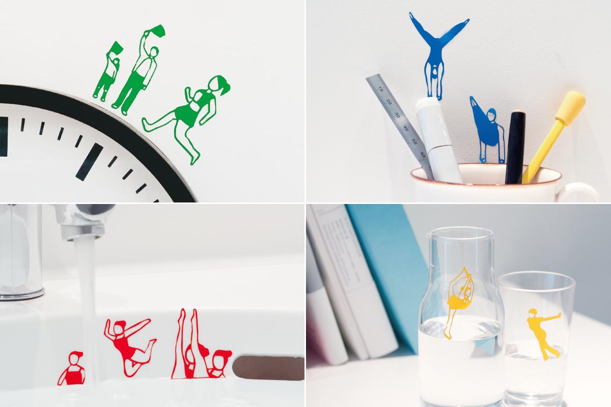 画像:第18回CSデザイン賞 商品化された「おうち五輪」がおうちに貼られた様子