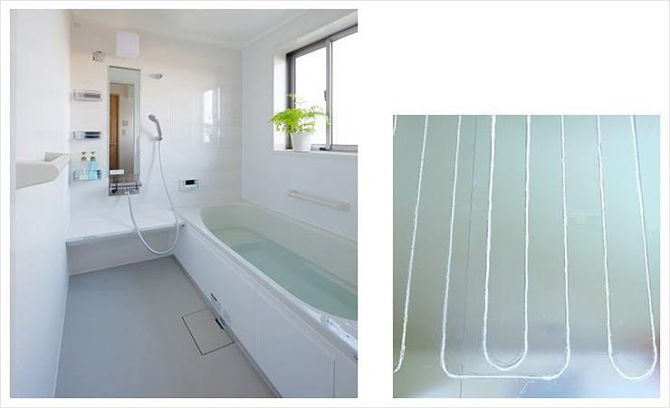 NAGORI™ を「浴室床冷暖房設備」の床材として使用