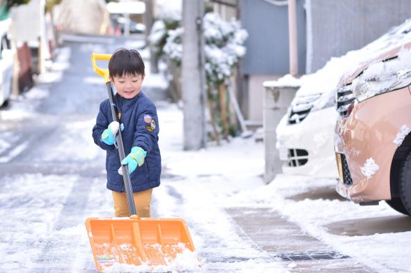 雪の日のお手伝い