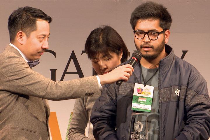 「12th GATSBY CREATIVE AWARDS FINAL」CM部門のRahul Singh Rawatさん(インド)プレゼン画像