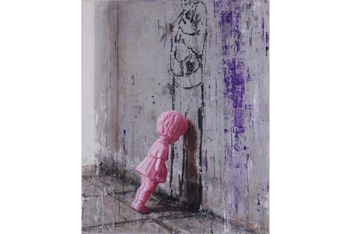 上野の森美術館絵画大賞 八嶋洋平 「プラスチックガール」画像