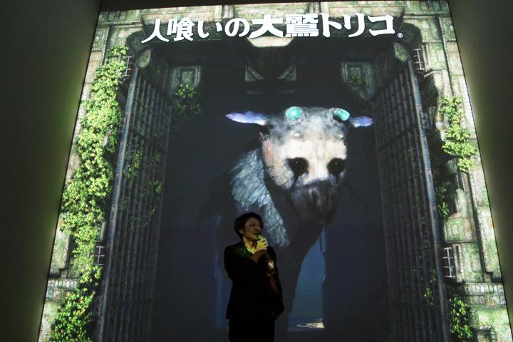 エンターテインメント部門・大賞のゲーム作品「人喰いの大鷲トリコ」展示