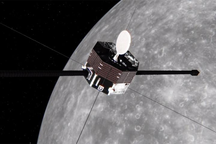 「みp」(水星磁気圏探査機MMO)による水星探査の様子(イメージ)