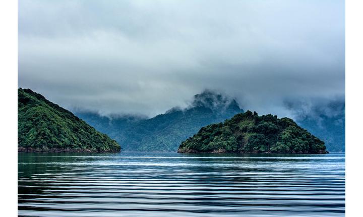 ニュージーランド南島の美しいマールボロ・サウンズの写真