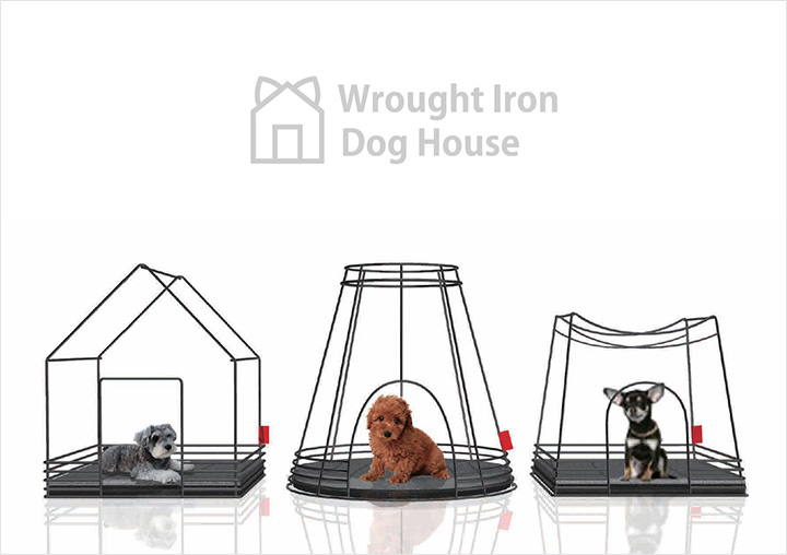 Wrought Iron Dog House