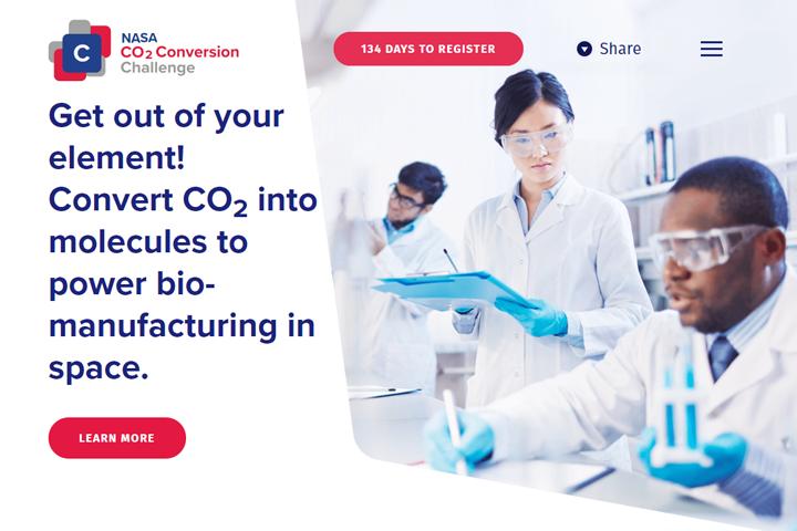 NASA CO2 Conversion Challenge 公式ホームページ
