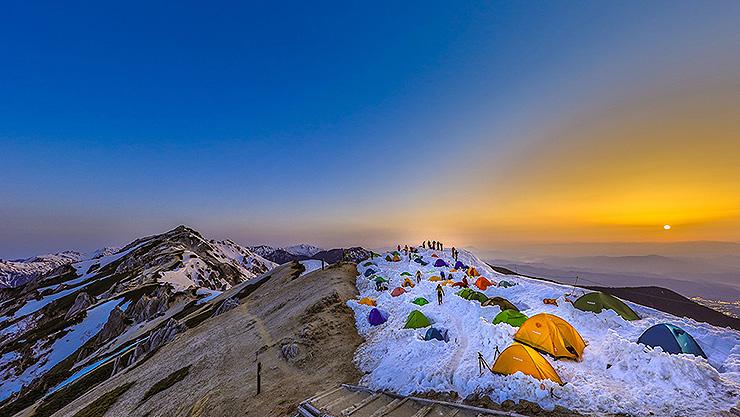 燕岳の日の出
