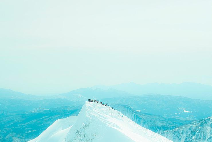 Colorful summit of Mt.Tanigawa