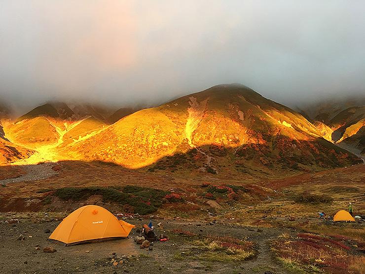 立山連峰 夕陽