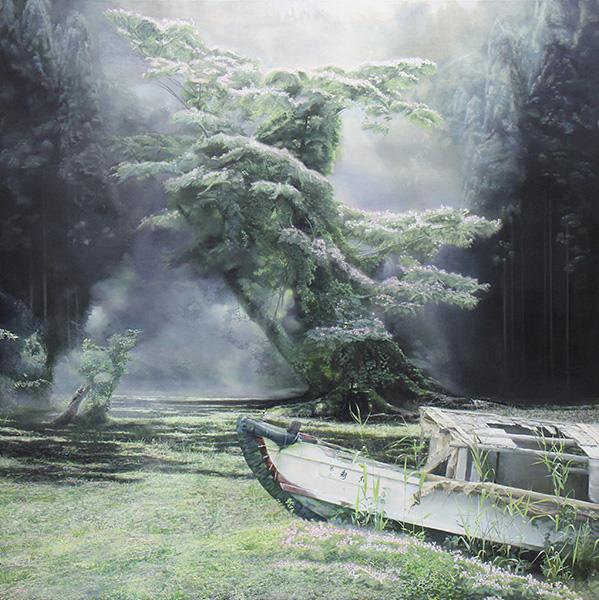 ねむの木と船