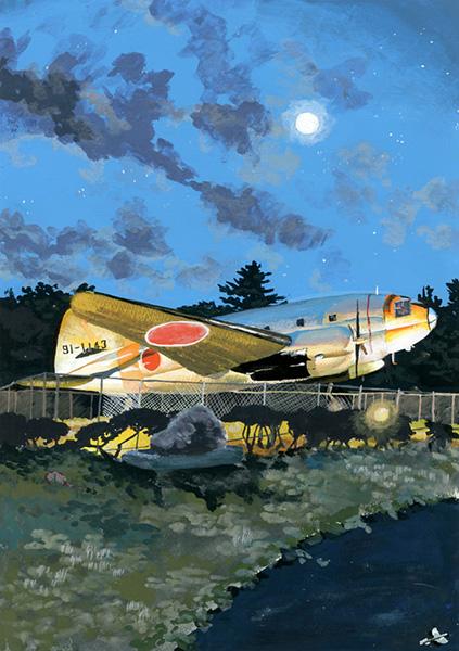 夜の航空公園
