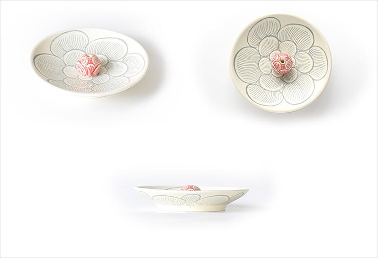 陽華文香皿・香立