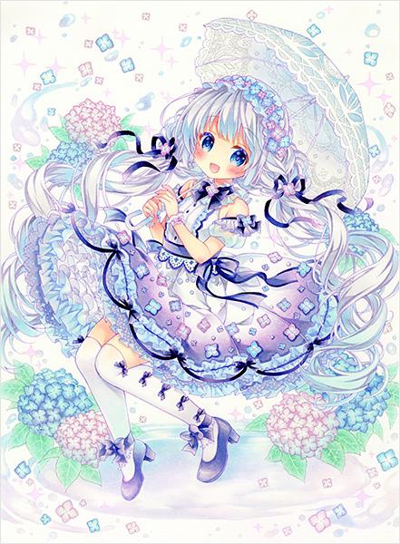 紫陽花ドレス