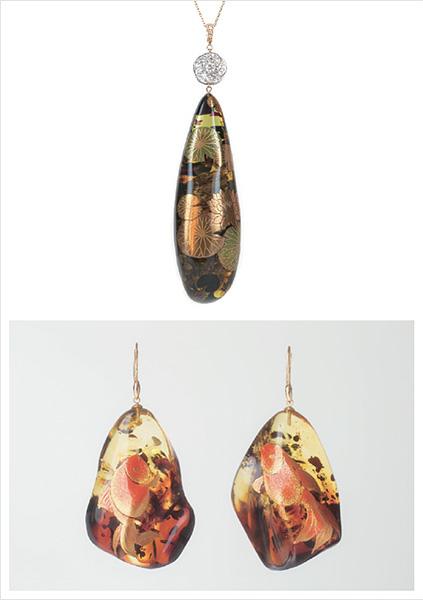 BOTANICAL JEWELRY ─ 琥珀と蒔絵が織りなす、新しいジュエリーのかたち ─
