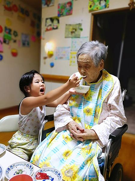 おおばあちゃんと孫