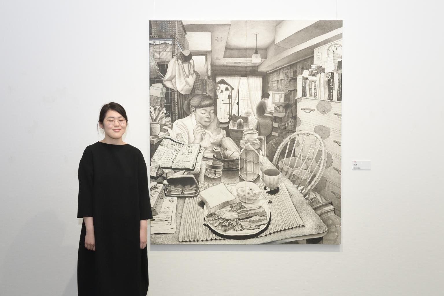 FACE2020優秀賞・小俣花名さんと作品《朝ご飯》