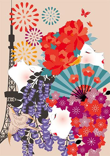 花咲く東京を駆け巡る