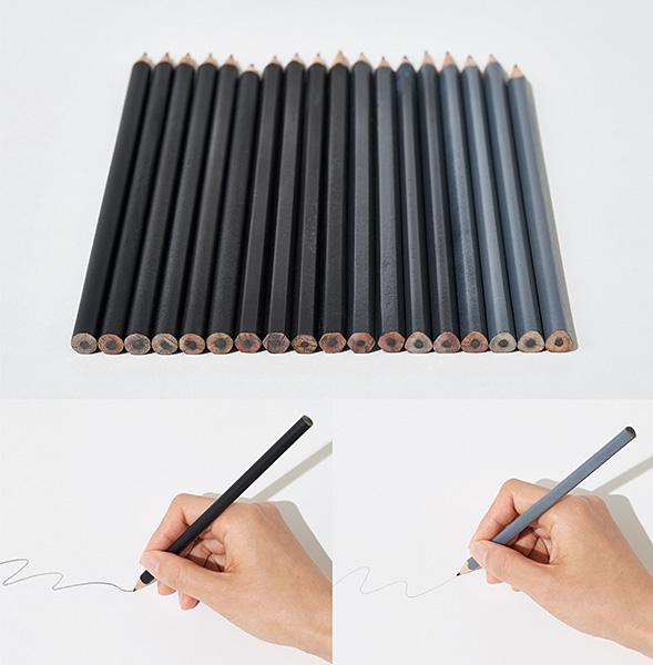 質感認識する鉛筆